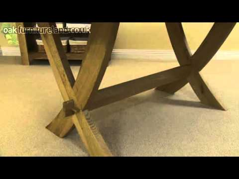 6ft x 3ft Solid Oak Crossed Leg Dining Table From Oak Furniture Land