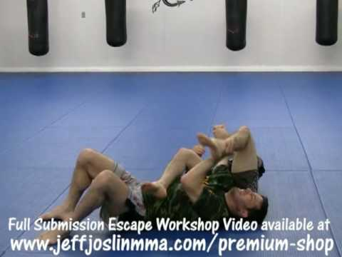 MMA Technique - Arm lock Escape : Submission Escape Video Workshop with Jeff Joslin