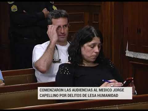 Delitos de Lesa Humanidad: Comenzaron las audiencias contra el médico Jorge Capellino