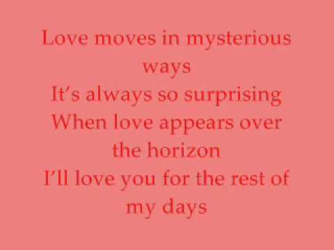 Love moves in mysterious ways Christian Bautista Feat. Kris Aquino (lyrics on Screen)