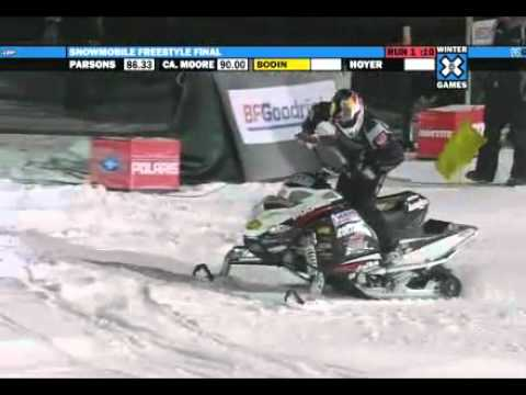Winter X Games 15 - Daniel Bodin Hits a Seat Grab Backflip to get Snowmobile Freestyle Gold