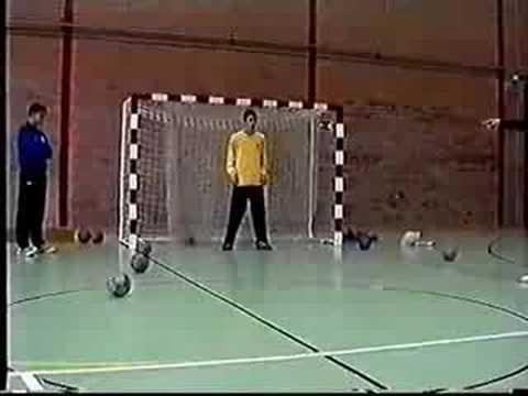 Entrenamiento de portero futbol sala