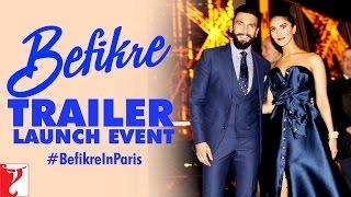 Befikre Trailer Launch Event at Eiffel Tower | Paris | Ranveer Singh | Vaani Kapoor