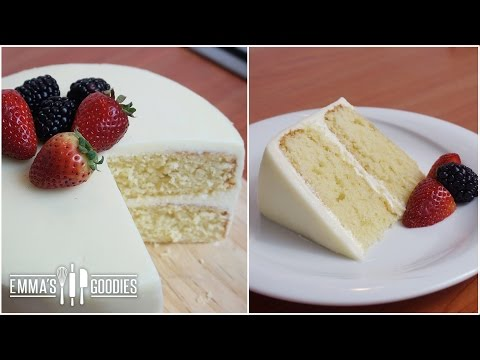Simple vanilla cake recipe video