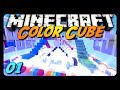 Minecraft - COLOR CUBE! - Pt. 1 w/ AntVenom & Friends! (Mini-Game)