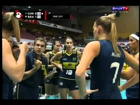 Women Volleyball   World Cup 2011   Brasil 3x2 China   Set 2