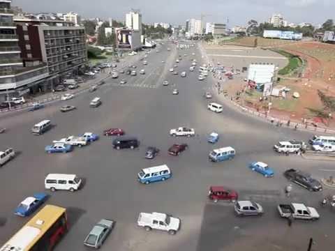 فيديو مضحك لحركة السيارات في اثيوبيا بدون اشارات ضوئية