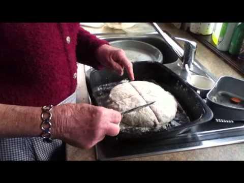 """Nanny"" Bernie Clarke Bakes Irish Brown Bread"