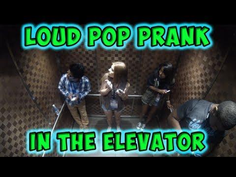 Loud Pop Prank in the Elevator