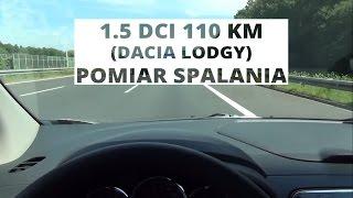 Dacia Lodgy 1.5 dCi 110 KM - pomiar spalania