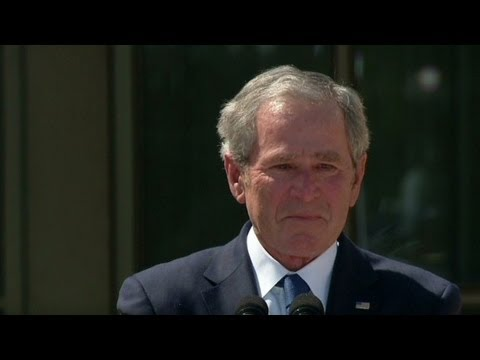 Presidential library leaves Bush teary-eyed  4/26/13