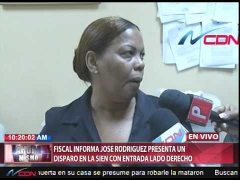 Fiscal en SPM: cuerpo de presunto matador de locutores presenta un impacto de bala