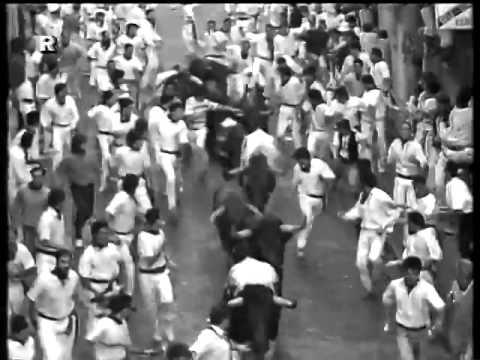 Encierro San Fermin Pamplona del día 7 7 1988 RE