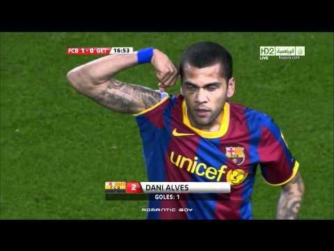 Dani Alves Goal FC Barcelona V Getafe HD HQ