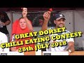 Chilli Eating Competition - Great Dorset Chilli Festival - Saturday 28th July 2018