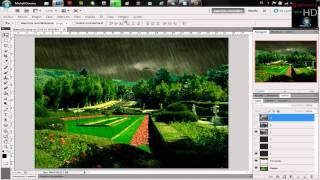 Adobe Photoshop CS5 Tutorial en español / Efecto de Lluvia animada Avanzado muy realista HD
