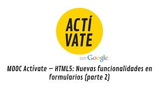 HTML5: Nuevas funcionalidades en formularios (parte 2)