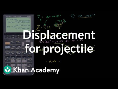Total Displacement for Projectile