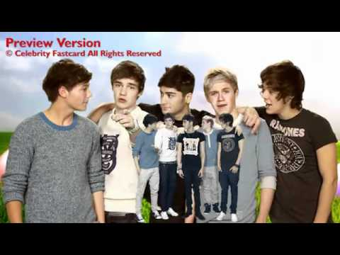 one direction celebrity fast card easter