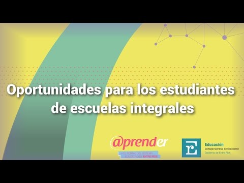 Oportunidades para los estudiantes de escuelas integrales   Laureano Retamoza