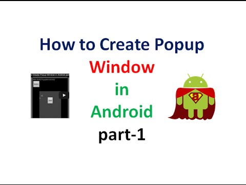 How to Create Popup Window in Android part1 | UandBlog.com - UCQNTsH43GwdMAGoiWLFEL8Q