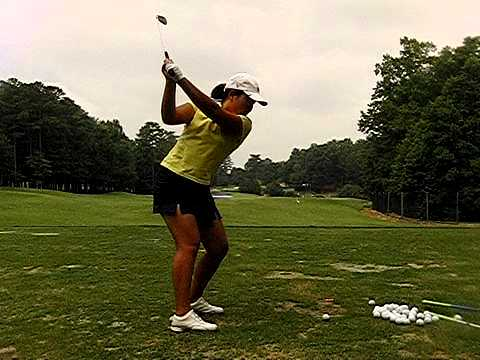 Inbee Park dtl golf swing 210 fps slow motion