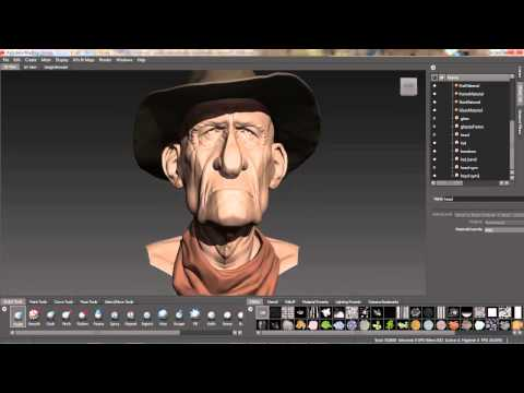 Mudbox Tutorial: Symmetry Options for Retopology and for Existing Meshes and Caliper Tool