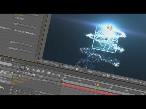 17. After Effects: Particulas Luminosas em Espiral Revelando Logo