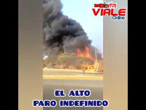 alara: queman instalaciones de empresa petrolera tras no llegar a acuerdo