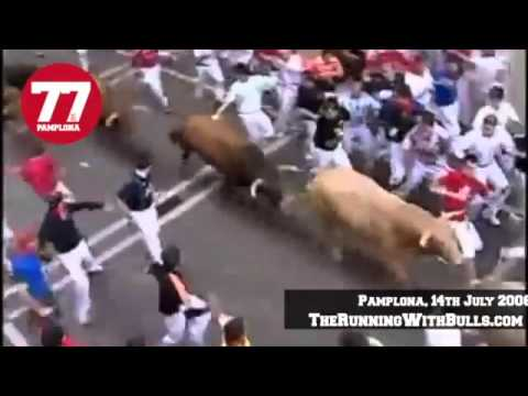 14th July 2008 - The running of the bulls in Pamplona