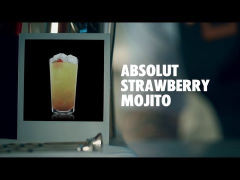 ABSOLUT STRAWBERRY MOJITO DRINK RECIPE - HOW TO MIX