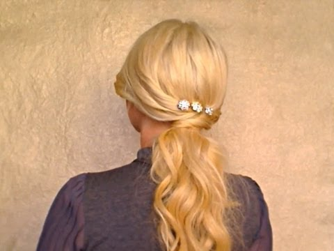 Easy romantic soft ponytail hairstyles for long hair tutorial for everyday homecoming fall 2011