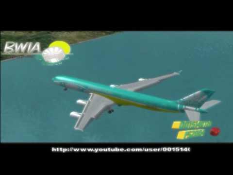 Landing in Trinidad Tobago : Caribbean Airlines A340-300