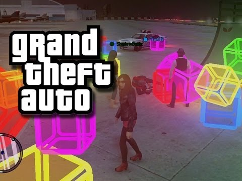 GTA - MODDED Funny Moments 5! (Cubes!)