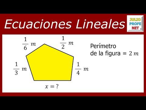 Ecuacion con los lados de un poligono