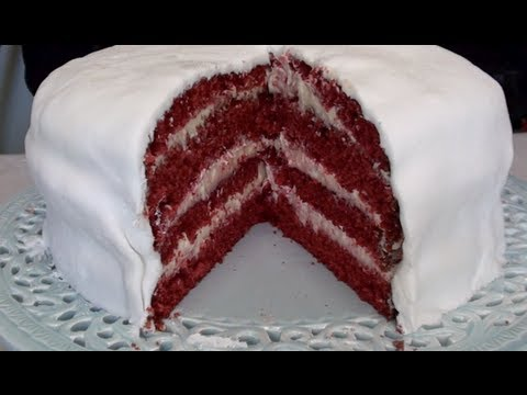 Four layer Red Velvet cake - Video Recipe