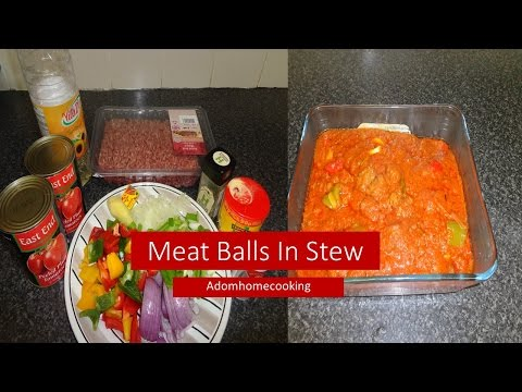 How To Prepare Meat Ball with stew