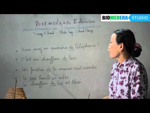 Bài 17: Cách nối 2 danh từ trong tiếng Pháp (rất quan trọng)