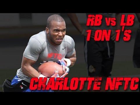 "Charlotte RB vs LB ""Cat & Mouse"" Drill | 2014 Nike Football Training Camp"