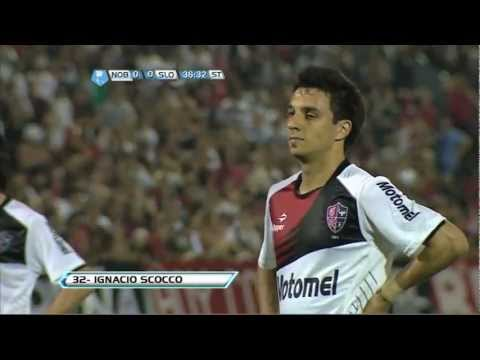 Newell`s vs San Lorenzo (Gol de penal de Scocco) 16/09/2012