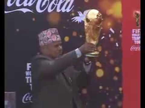 FIFA World cup Trophy @ Kathmandu