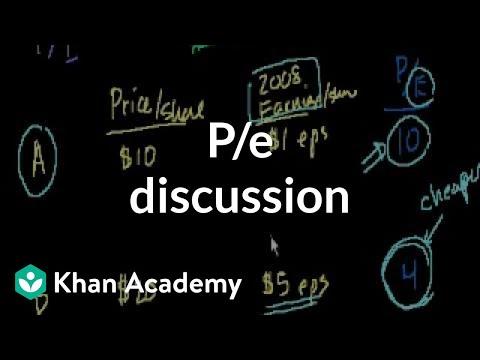P/E Discussion