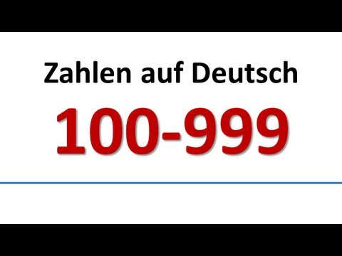 Deutsch: Wortschatz - Zahlen 100-999 (deutsche Untertitel)/German: Numbers (German subs)