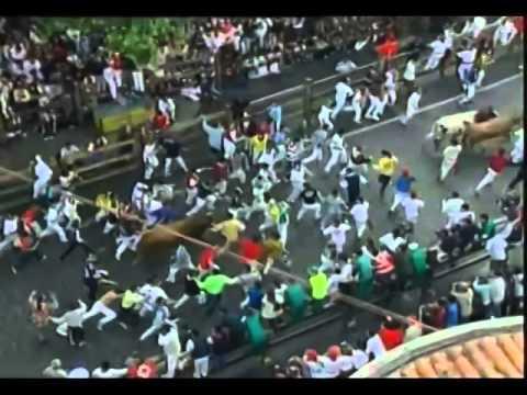 Encierro San Fermin Pamplona del día 7 de julio del 2001
