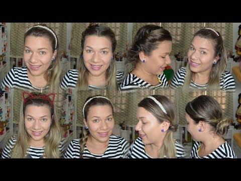 10 Penteados Fáceis e Lindos usando Headband e Tiaras