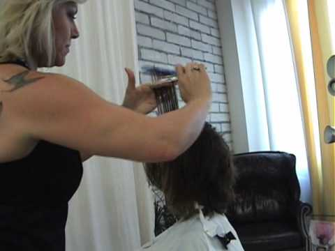 Part 2 of 2 MODERN MARIYLN - POINT & SLICE CUT Hair Design by Sharon Sovinski