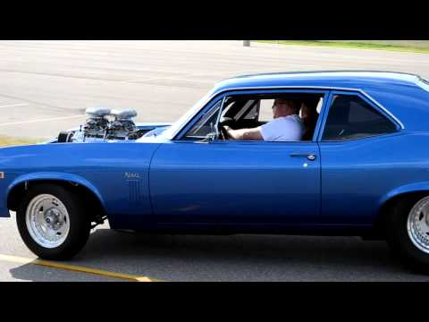 Chevy Nova LOUD supercharger whine!
