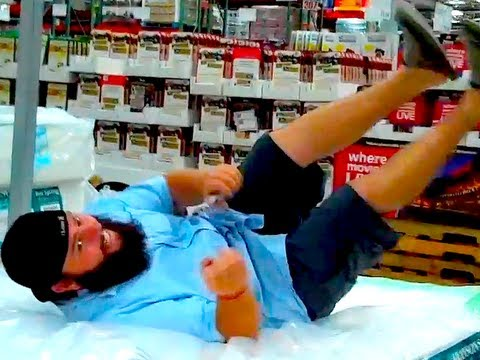 COSTCO MATTRESS DIVE!