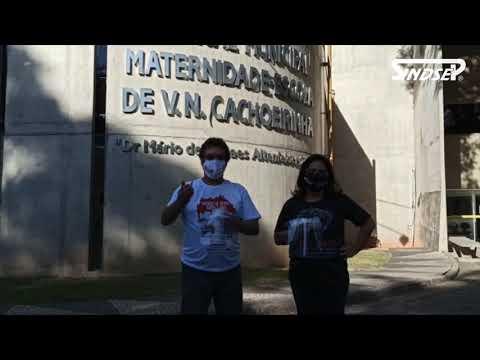 Sindsep em parceria com o Comitê Solidário Missão Escudo entregaram o EPI para trabalhadores do Hospital e Maternidade Vila Nova Cachoeirinha