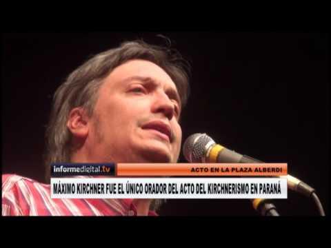 <b>Discurso completo.</b> Máximo Kirchner en Paraná